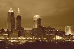 Cleveland nella seppia Fotografia Stock Libera da Diritti