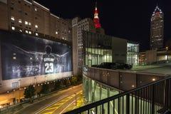 Cleveland at Night Celebration Stock Photography