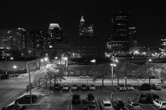 Cleveland at Night Royalty Free Stock Images