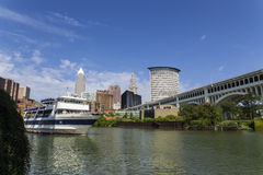 Cleveland, OH. Cleveland is a city in the U.S. state of Ohio and is the county seat of Cuyahoga County, the most populous county in the state. The city is stock photography