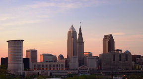 Cleveland Ohio. Downtown Cleveland Ohio royalty free stock photo