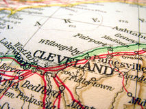 Cleveland, Ohio. The way we looked at it in 1949 royalty free stock photo