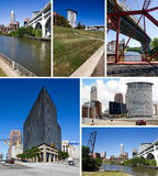 Cleveland, Ohio collage. Collage of famous landmarks and places in Cleveland, Ohio royalty free stock image