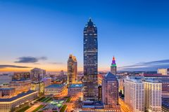 Cleveland, Ohio, de V.S. stock afbeeldingen