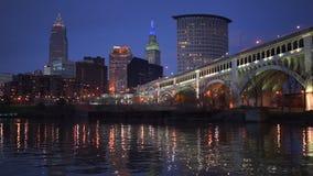 Cleveland Ohio Downtown City Skyline Cuyahoga River Superior Ave Bridge