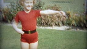 CLEVELAND, OHIO 1953: Girl practicing fancy ballet dancing moves. stock footage