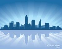 Cleveland, Ohio linii horyzontu sylwetka ilustracja wektor