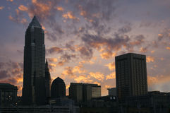 Cleveland, Ohio skyline. The downtown Cleveland, Ohio skyline at sunset Royalty Free Stock Photos