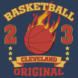 Cleveland Ohio sport typography Royalty Free Stock Image