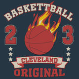 Cleveland Ohio sport typography Stock Photography