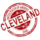 Cleveland Ohio stamp with white background Royalty Free Stock Photography