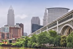 Cleveland. Ohio in the United States. City skyline royalty free stock photography