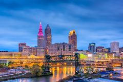 Cleveland, Ohio, USA stockbilder