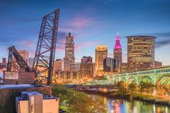 Cleveland, Ohio, USA Skyline Stock Photography