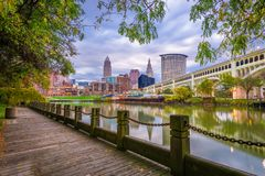 Cleveland, Ohio, USA Downtown Skyline royalty free stock photo