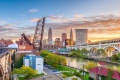 Cleveland, Ohio, USA royalty free stock photo