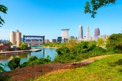 Cleveland pejzaż miejski zdjęcie stock