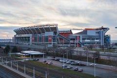Cleveland Pierwszy Energetyczny stadium przy zmierzchem obraz royalty free