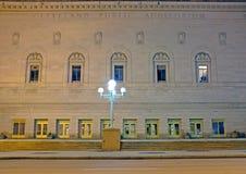 Cleveland Public Auditorium op Oever van het meerweg in Cleveland van de binnenstad, Ohio is een historisch gebeurtenistrefpunt stock afbeeldingen
