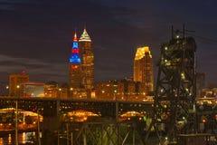 Cleveland que brilla intensamente Fotos de archivo libres de regalías