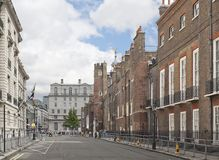 Cleveland Row in Londen, Engeland Royalty-vrije Stock Foto's