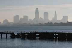 Cleveland's Edgewater Park. Cleveland is a major city in Ohio on the shores of Lake Erie. Landmarks dating to its days as a turn-of-the-20th-century Stock Photo