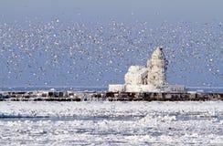 cleveland schronienia latarni morskiej pierhead zachodni zdjęcia stock