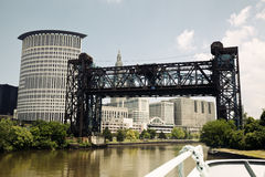 Cleveland seen from the boat Stock Photography