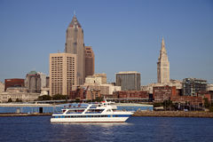 Cleveland seen from Lake Erie Stock Photos