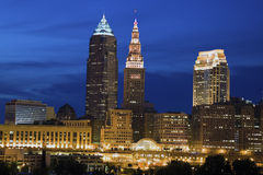 Cleveland seen late evening Royalty Free Stock Images