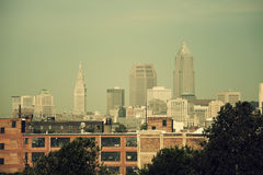 Cleveland skyline Stock Photography