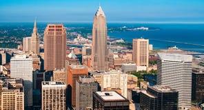 Cleveland Skyline desde arriba Foto de archivo libre de regalías