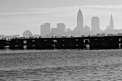 Cleveland Skyline over Lake Erie Royalty Free Stock Photography