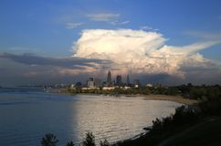 Cleveland skyline view Royalty Free Stock Image