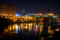 Cleveland sports district Royalty Free Stock Photography