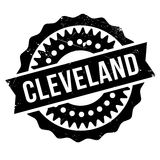 Cleveland stamp rubber grunge Stock Photography