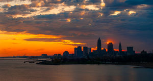 Cleveland sunrise display Stock Photography