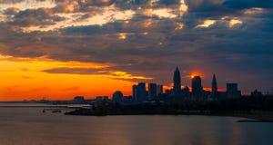 Cleveland sunrise display Stock Photography