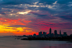 Cleveland sunrise sky Royalty Free Stock Photography