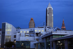 Cleveland after sunset Stock Images