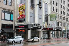 Cleveland teatrar fotografering för bildbyråer