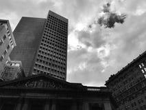 Cleveland Trust Building idoso e os 9 - Cleveland, Ohio imagem de stock royalty free
