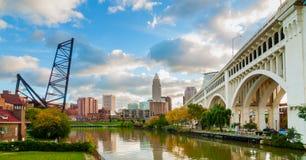 Cleveland-Ufergegend Stockbild