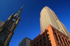 Cleveland van de binnenstad Stock Foto's