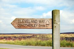 Cleveland Way Osmotherley Royalty Free Stock Photography