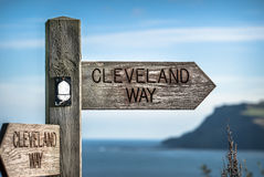 Cleveland Way Sign Royalty Free Stock Photos