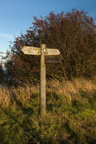 Cleveland Way Signpost photographie stock