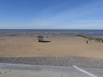 Cleveleys beach royalty free stock photos