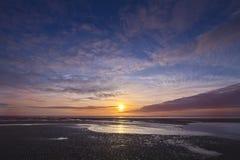 Cleveleys Beach Sunset Stock Image