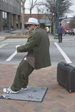 Clever Asheville Busker Royalty Free Stock Photo